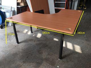 Mesa de oficina en L basica, Ref: 040310