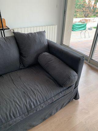 Vendo sofá de lino lavado.