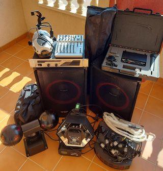 Equipo de sonido e iluminación