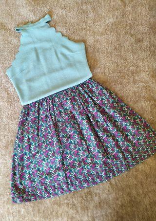 Conjunto falda-top