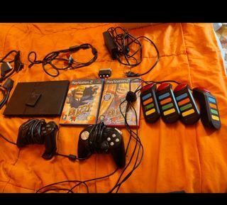 Ps2 Slim con juego, mandos,etc