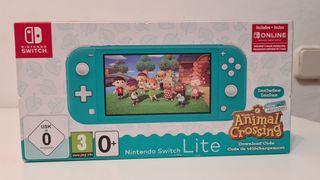 Nintendo Switch Lite + Juego + Suscripción. Nuevo