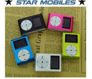 ** REPRODUCTOR MP3 PORTATIL CLIP MICRO SD