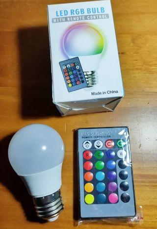 Bombilla RGB E27 con mando Nuevo