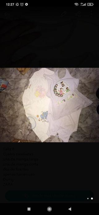 4 Camisetas Niña