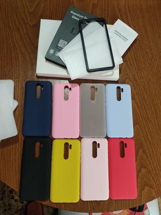 8 fundas y 3 protectores para Redmi Note 8 Pro