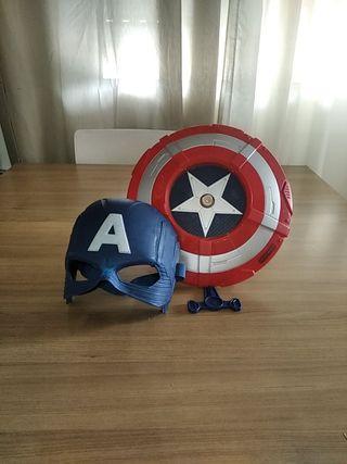 Máscara y escudo Capitán América