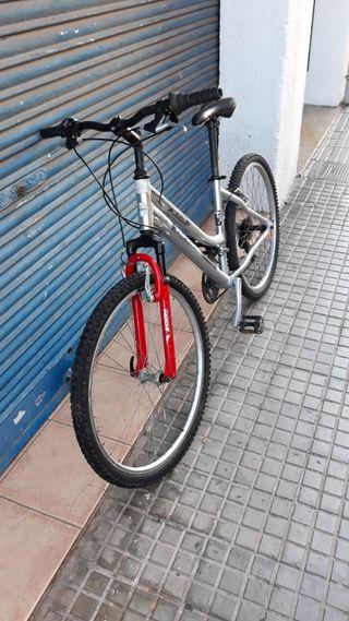 bici topbike aluminio cromado ruedas de 26