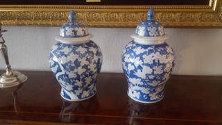 pareja jarrones chinos