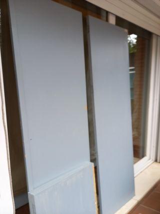 puertas de armario de pino pintado