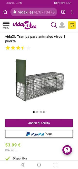 jaula para atrapar animales
