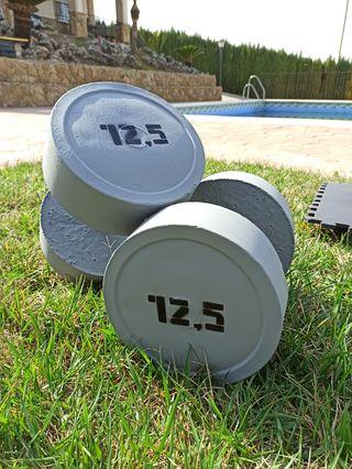 Mancuernas de hormigón 12.5 KG y 18.5 KG