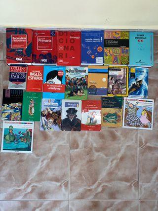 Diccionarios, libros de lectura y cuentos infantil
