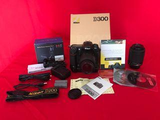 Camara Nikon D300 grip Mb-d10 y 18/55 VR + 80/200