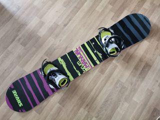 Tabla Forum 153 y Fijaciones Raven Snowboard