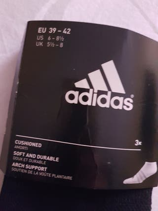 Pack3 Calcetines Adidas t.39-42