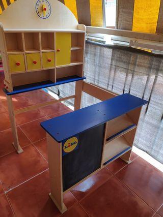 Supermercado de madera juguete