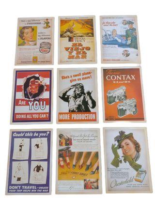 Postales vintage publicidad reproducciónes de imag