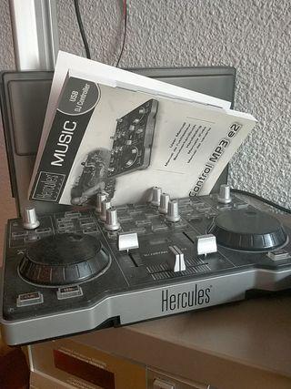 controladora Hércules Dj control MP3 e2