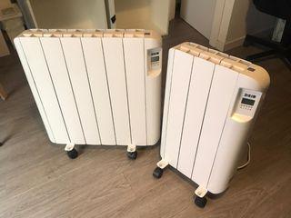2 emisores térmicos cerámicos HJM ECL con ruedas