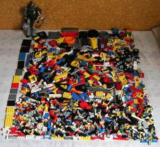 LEGO LOTE 1,900 KG. DE PIEZAS (ALGUNAS ANTIGUAS)