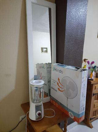 licuadora y ventilador