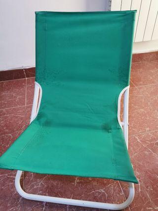 2 sillas tumbonas de playa