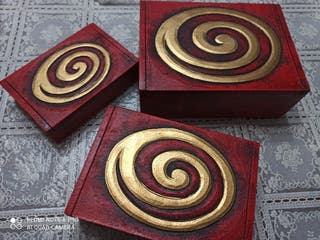cajas de madera conjunto