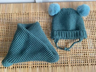 Conjunto gorrito lana + bufanda