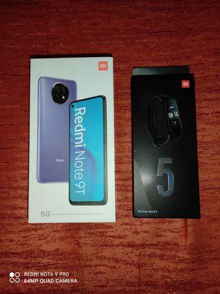Redmi Note 9T (269€) + Xiaomi Mi Band 5 (39,99€)