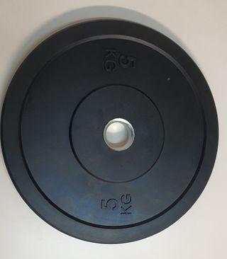 Discos Bumpers,pesos de 5kg 10kg 15kg y 20kg