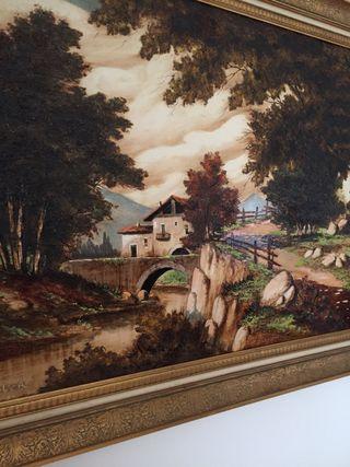 Cuadro antiguo paisaje Vicente Soler