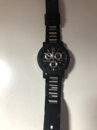 Reloj Bulgari Roma caucho negro y acero