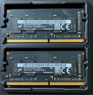 8GB de memoria RAM DDR4 2666 Mhz PC4-21300 SODIMM