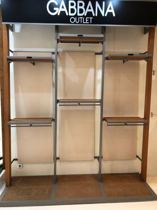 Estanterias modulares para tienda de ropa