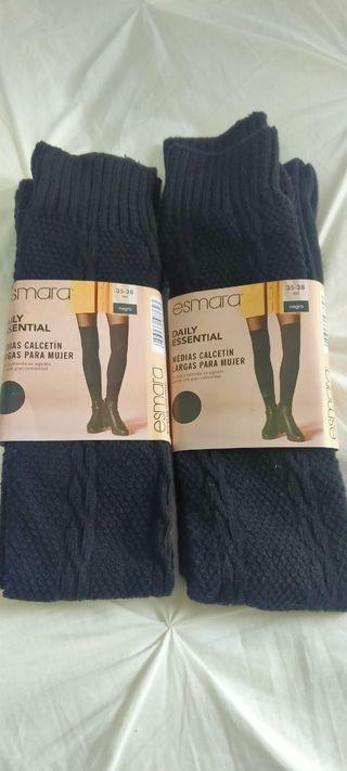 calcetines medias largos nuevos