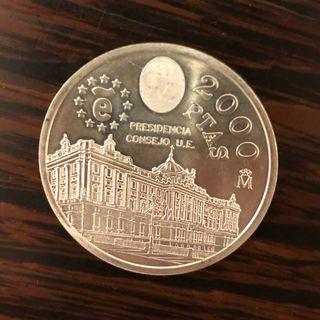 Moneda 2000 pesetas año 1995.