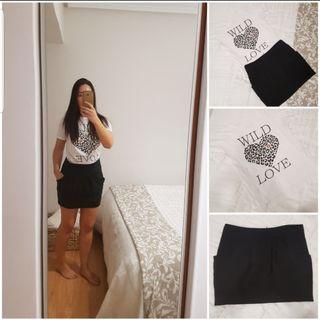 Falda + Camiseta ( Zara)