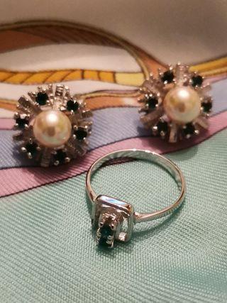 Set anillo y pendientes