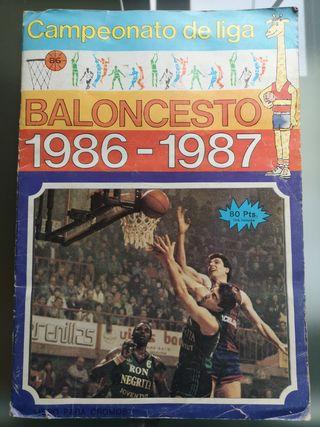 ALBUM CAMPEONATO DE BALONCESTO 86-87 J. MERCHANTE