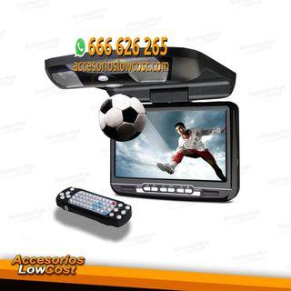 """AL022166 - PANTALLA DE TECHO 9"""" COLOR NEGRO, CON REPRODUCTOR DE DVD, USB Y TARJETA SD"""