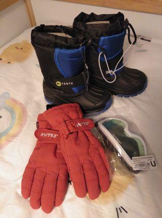 Botas, guantes y gafas de nieve para niñ@s!