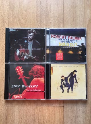 Discos Pop Eric Clapton Robert Palmer Jeff Buckley