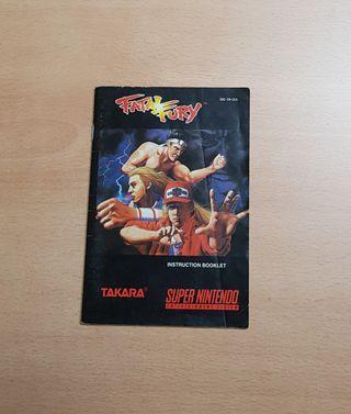 Fatal Fury snes manual