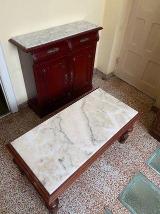Mesa y Mueble Antiguo