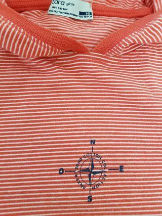 Camiseta algodón talla 16 ZARA