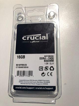 Memoria RAM 16GB DDR4 - 2400 para PC Portat