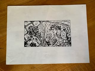 Dibujo original Juan G. Iranzo (El Cachorro)