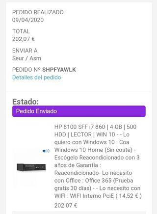 PC i7 HP 8100