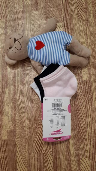 lote pack 3 pares nuevo calcetines niña niño 21-26